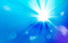 streaming sunlight illustration - stock illustration
