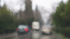 Rain drops on the windshield Stock Footage