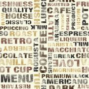 Coffee vector pattern Stock Illustration