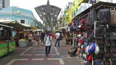 Kasturi Walk next to the Pasar Seni market in Kuala Lumpur city center. Stock Footage