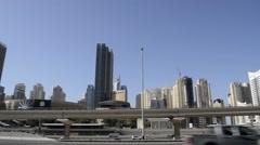 Dubai Marina UAE pan around shot Stock Footage