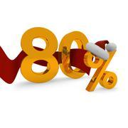 Eighty percent discount - stock illustration