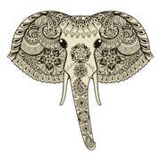 Stock Illustration of Zentangle stylized Indian Elephant. Hand Drawn vector illustrati