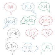 Vector illustration of internet acronym chat bubble Stock Illustration