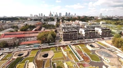 Great Aerial View Of Centrum Nauki Kopernik Next To Vistula River In Warsaw Stock Footage