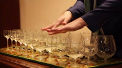 Classical Wine Glass Music Stock Footage