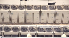 Air conditioner units Stock Footage