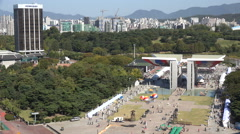 Venue of the 1988 Summer Olympic Games in Seoul, South Korea - stock footage