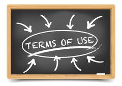 Terms of Use Focus - stock illustration