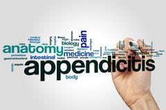 Appendicitis word cloud Kuvituskuvat