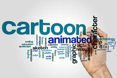 Cartoon word cloud Stock Photos