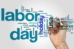 Stock Photo of Labor day word cloud