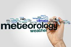 Meteorology word cloud Stock Photos