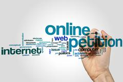 Online petition word cloud - stock photo