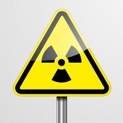 Warning Sign Radiation - stock illustration