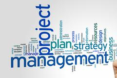 Project management word cloud - stock photo