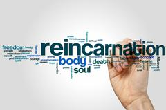 Reincarnation word cloud Stock Photos
