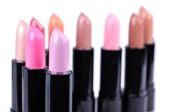 Align lipsticks - stock photo