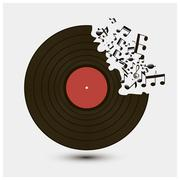 Abstract music background vector illustration for your design Stock Illustration