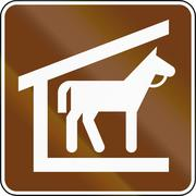 United States MUTCD guide road sign - Stables Stock Illustration