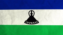 Mosotho flag waving in the wind (full frame footage) Stock Footage
