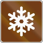 United States MUTCD guide road sign - Winter Recreational Area Stock Illustration