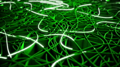 Communication concept, green version, seamless loop, depth of field Stock Footage