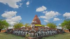 Pagoda Chang Lom Wat Maheyong Stock Footage