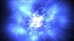 Blue bakground of energy Stock Footage