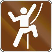 United States MUTCD guide road sign - Climbing - stock illustration