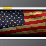 The United States of America grunge flag - stock illustration