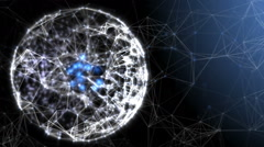 Plexus sphere: fantasy abstract technology and engineering background - stock footage