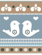 Love birds and heart shapes Stock Illustration