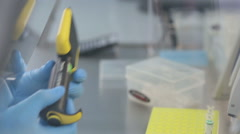 Laboratory workplace for DNA test Stock Footage