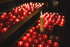 Candles for prayers - stock photo