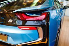 BMW I8 hybrid sports car - stock photo