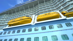 Cruise ship at sea, starboard side view. Close up shot - Anthem of the seas - stock footage