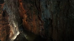 Mira de Aire cavern - stock footage