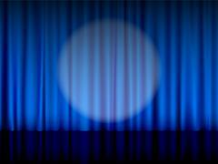 Theater curtain Stock Illustration