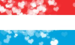 Luxembourg flag - stock illustration