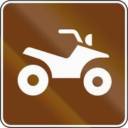 United States MUTCD guide road sign - ATV - stock illustration