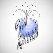 Music around the world Stock Illustration