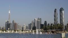 Dubai skyline UAE Stock Footage