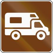 United States MUTCD guide road sign - Recreational Vehicle Site Stock Illustration