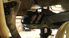 Robotic cow milking machine Stock Footage