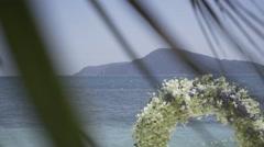 Wedding on the tropic island - stock footage