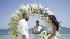 Wedding on the tropic island - stock footage