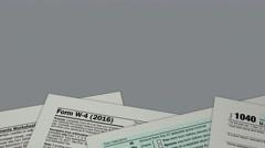 Usa taxes concept Stock Footage