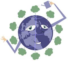 All the world is green Stock Illustration