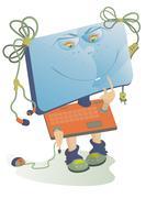 Comic computer Stock Illustration